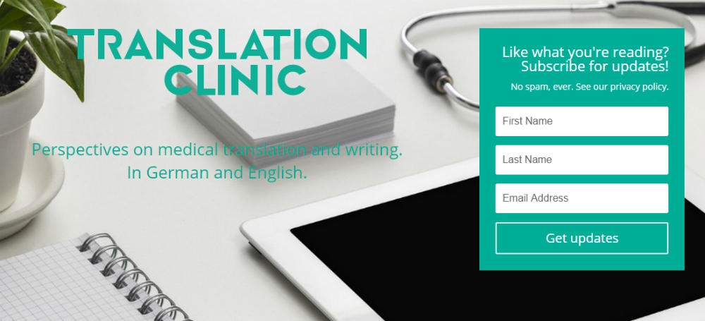 The Translation Clinic: on medical translation and writing